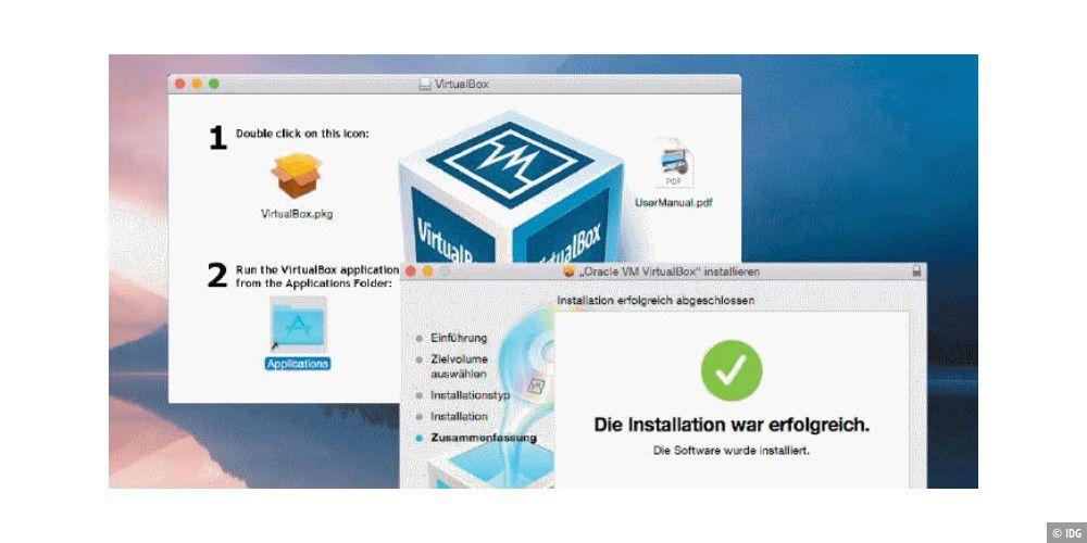 windows 10 mit virtualbox in mac os x einrichten pc welt. Black Bedroom Furniture Sets. Home Design Ideas