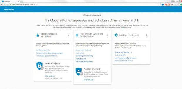 Google Verbundene Konten