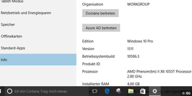 "Windows 10 Version 1511 - Microsoft vergibt die Versionsnummern für Windows 10 nach einer neuen Methode. In ""1511"" steckt die Information, in welchem Jahr und Monat die Version erschien."