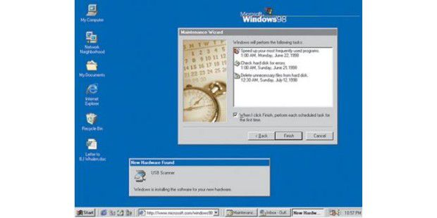 Der Windows 98-Desktop