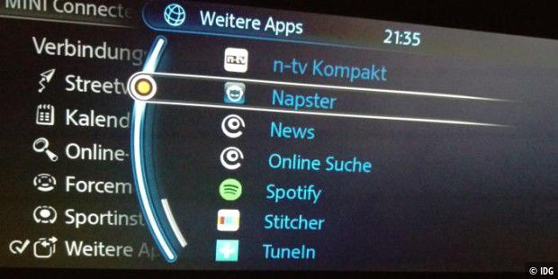 mini cooper im test apps navi unterhaltung carplay touchscreen pc welt. Black Bedroom Furniture Sets. Home Design Ideas