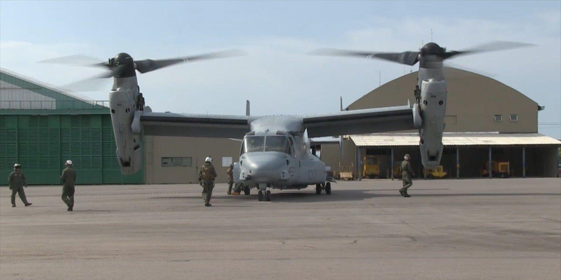 Sprachlos: Heli-Flugzeug V-22 mit neuem Rekord