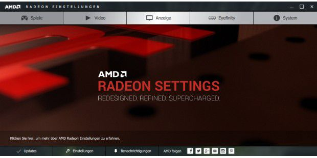 AMD Radeon Crimson Software