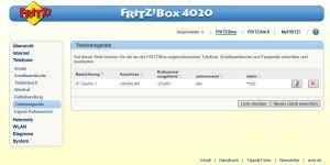 Telefonieren mit der Fritzbox 4020