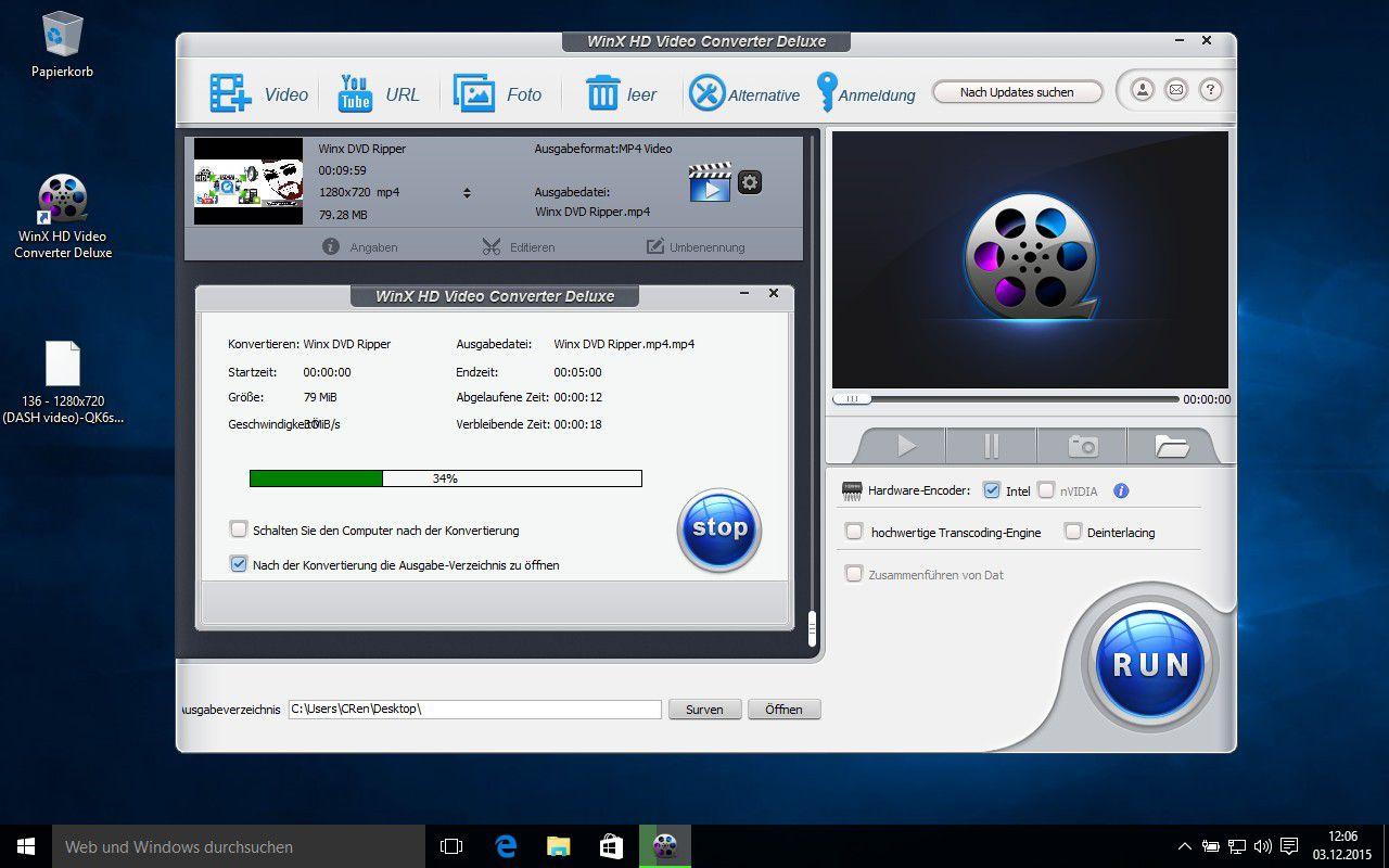 Gratis-Vollversion: Videos mit WinX HD Video Converter Deluxe für PC ...