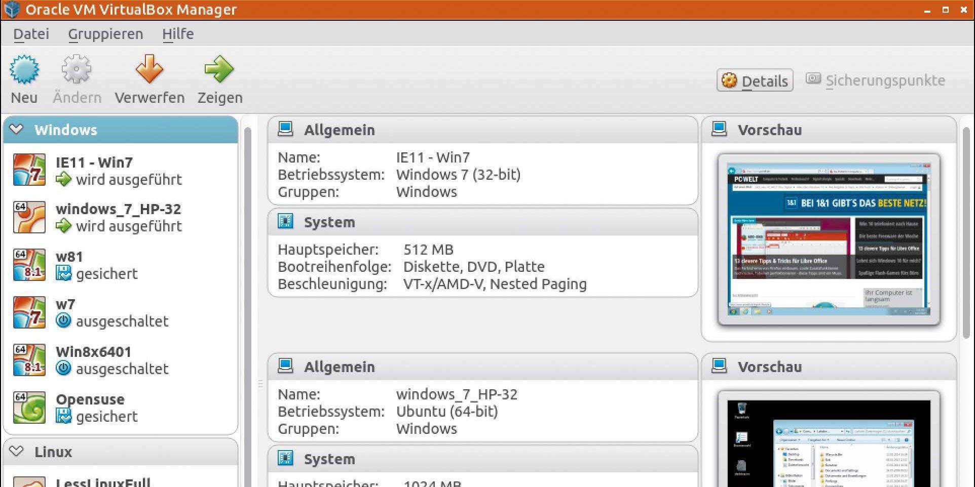 virtuellen pc mit virtualbox ubuntu einrichten pc welt. Black Bedroom Furniture Sets. Home Design Ideas