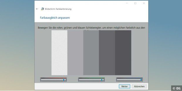 bildschirm kalibrieren windows 10