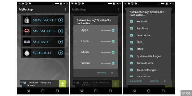 Datensicherung Android