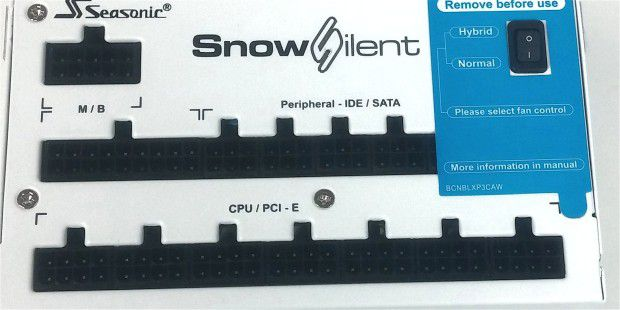 Voll modulares Kabelmanagement: Seasonic SS-1200XP3 Snow Silent HM07 Edition