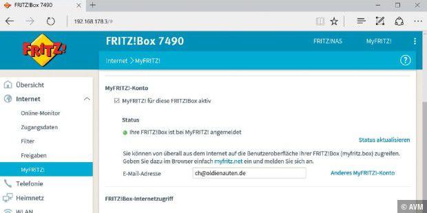 Myfritz Konto