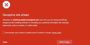 Chrome schützt vor falschen Download-Buttons