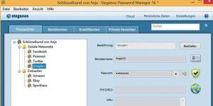 Gratis-Vollversion: Steganos Passwort Manager 16