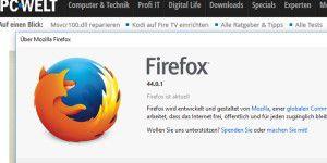 Firefox 44.0.1 behebt Bug im Passwort-Manager