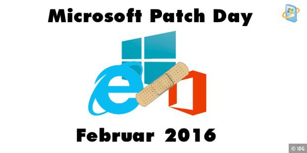 Patch Day Februar mit 13 Bulletins