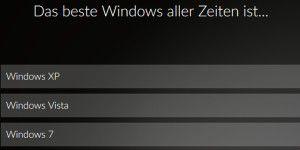 Umfrage: Das beste Windows aller Zeiten ist...