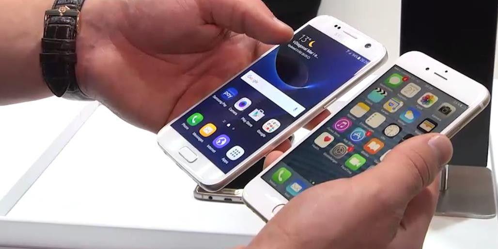 SAMSUNG S7 UND IPHONE 6S VERGLEICH