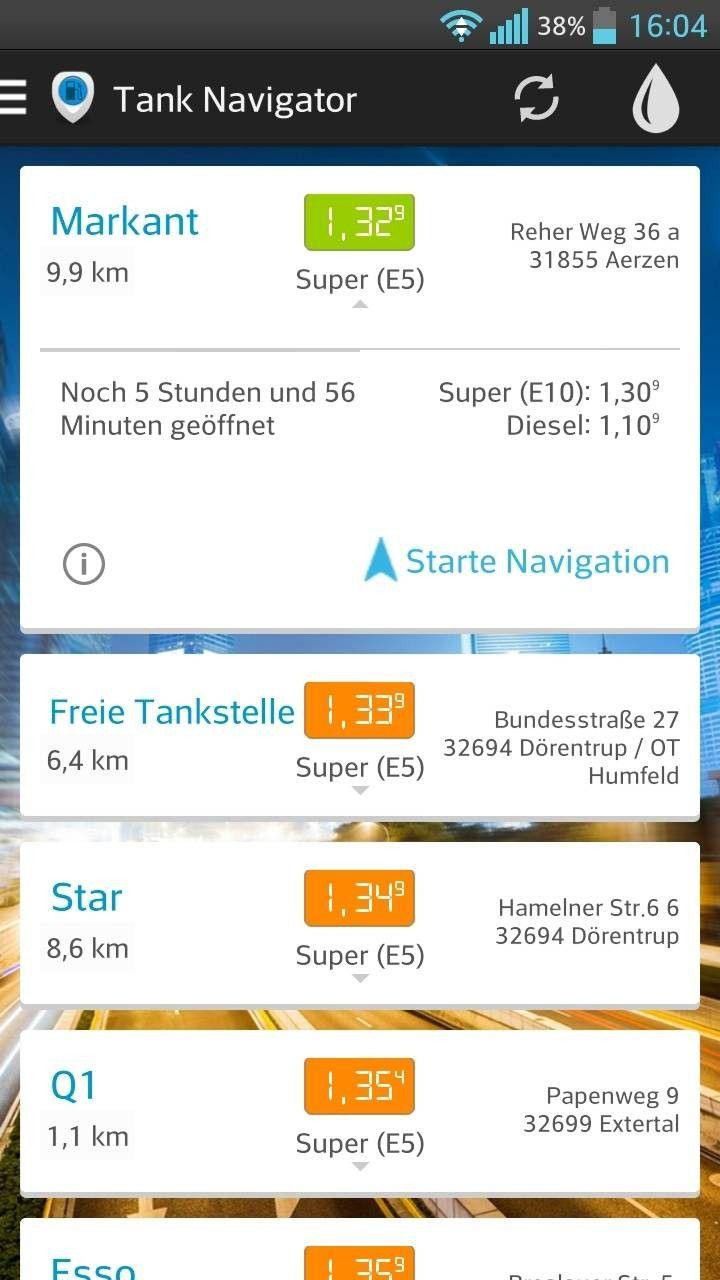 billig benzin app android