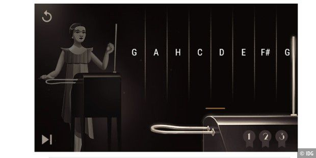 Theremin-Doodle auf Google-Seite