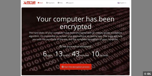 Ransomware Petya Website
