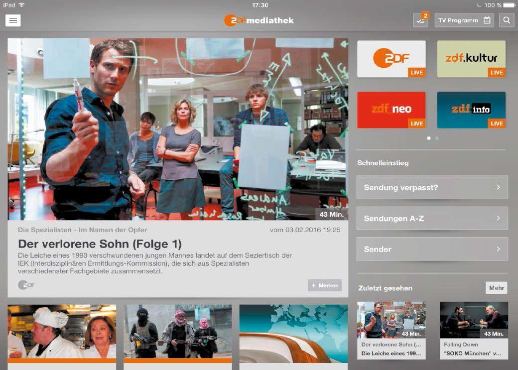 Live-TV, Mediatheken & Online-Videorecorder: Fernsehen