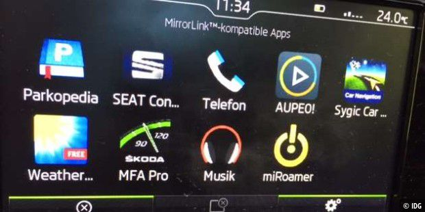 mirrorlink bringt android ins auto test im vw bus passat polo seat skoda toyota pc welt. Black Bedroom Furniture Sets. Home Design Ideas