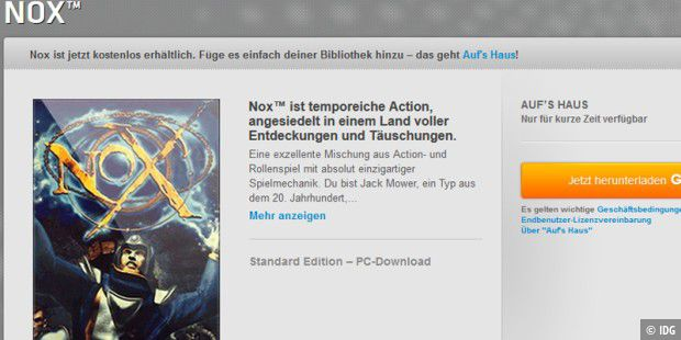 Aufs Haus EA verschenkt Action Spiel Nox PC WELT