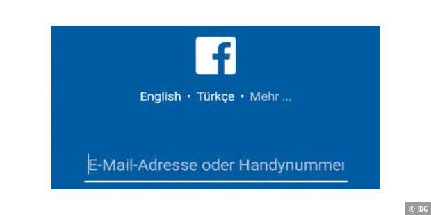 Handy mit facebook login Wie melde