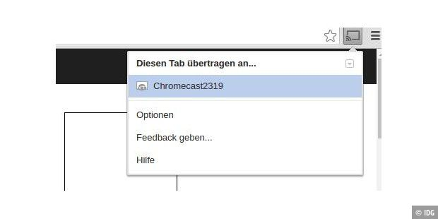 Das Chromecast-Plugin in Chrome