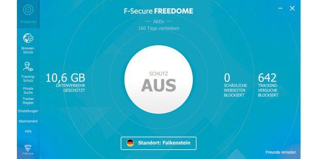 Freedome von F-Secure ist ein schneller VPN-Client, der Ihnen erlaubt, verschiedene Standorte auf der ganzen Welt auszuwählen ? praktisch, um die eigenen Daten in offenen WLANs zu schützen und um Geosperren zu umgehen.