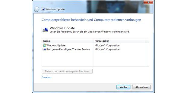 Mit dem Microsoft Fix-It-Tool reparieren Sie ein defektes Windows-Update