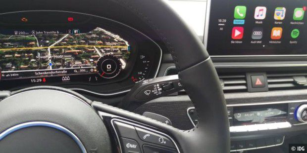 Audi A4 mit Connect, MMI, Carplay, Android Auto und App im