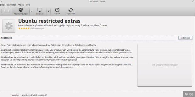 ubuntu-restricted-extras installieren