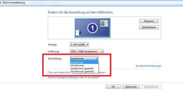 Bildschirmauflösung ändern Tastenkombination