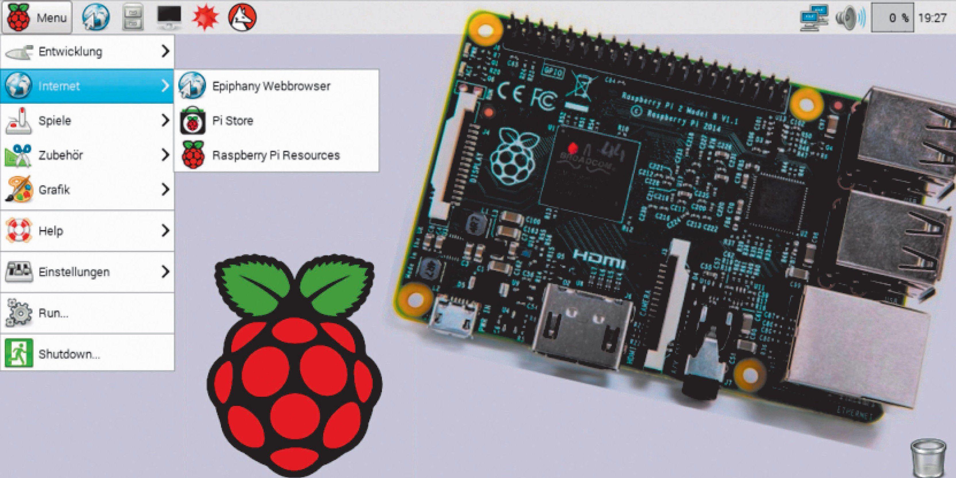 Raspberry Pi Die Besten Tools Und Einsatzgebiete Pc Welt Paket 3 Model B Vergrern Rasbian Basiert Auf Debian Bietet Fr Den Mini Fast Alle Programme Serverdienste Auch Pcs Verfgbar Sind Der