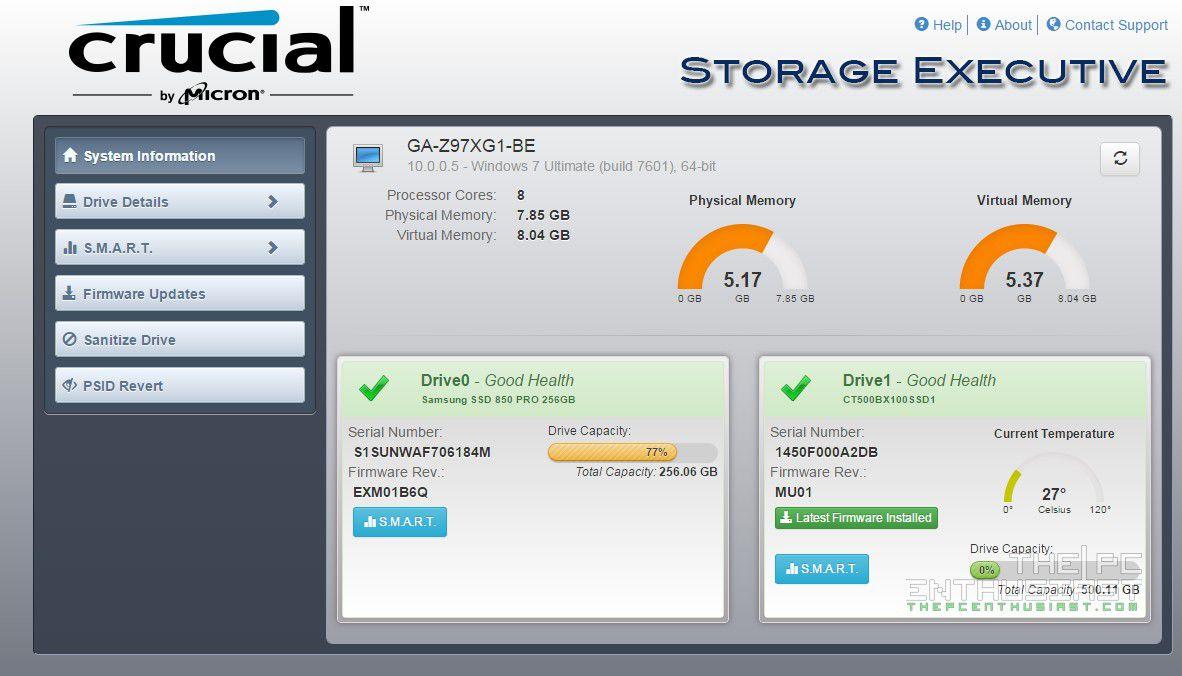 Crucial Storage Executive - PC-WELT