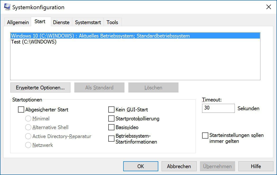 Windows 10 Bootmanager