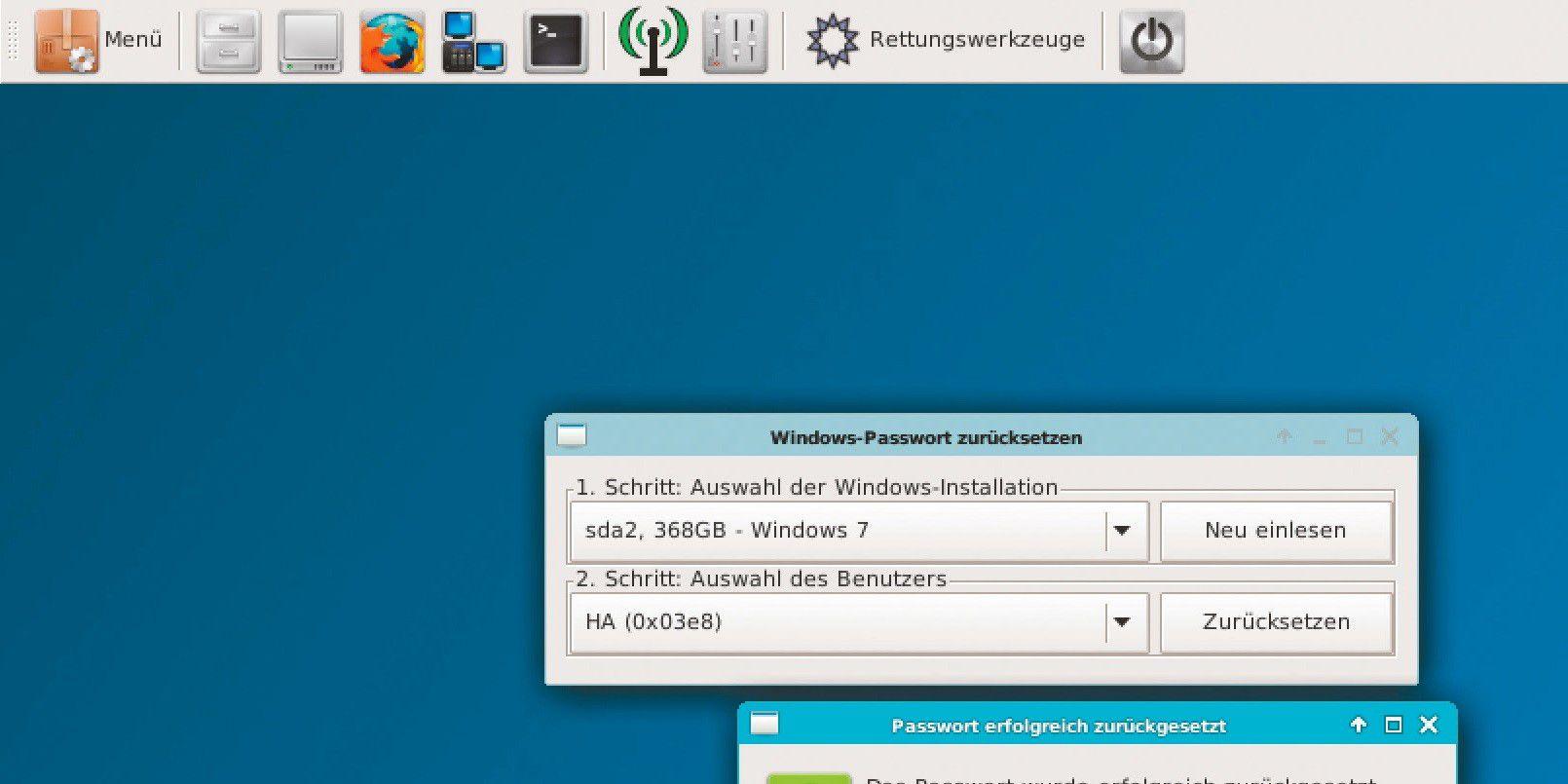 windows pc passwort vergessen