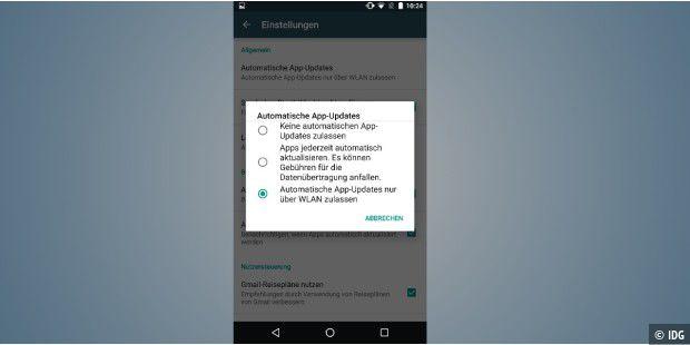 Android apps im hintergrund erlauben