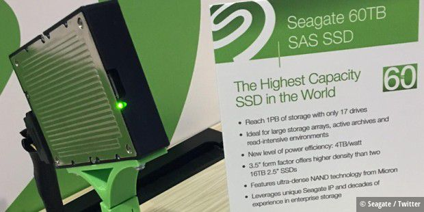 Seagate präsentiert die 60-TB-Serial Attached SCSI (SAS)-SSD auf dem Flash Memory Summit im Silicon Valley