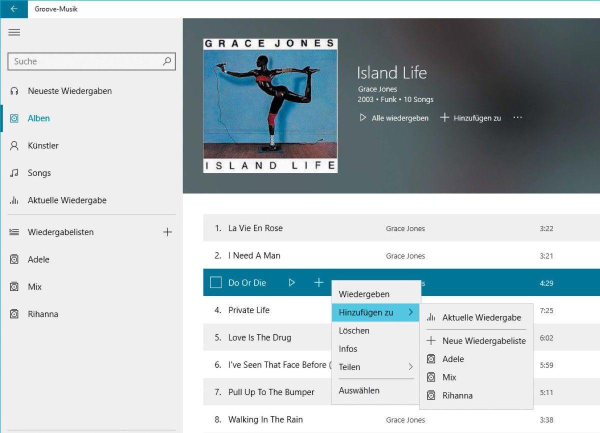 Groove-Musik: Die Windows-10-App Im Überblick