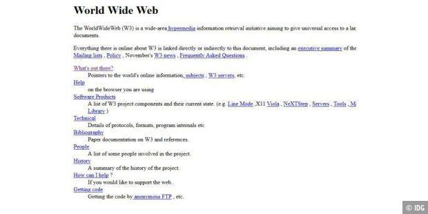 Erste Website Der Welt