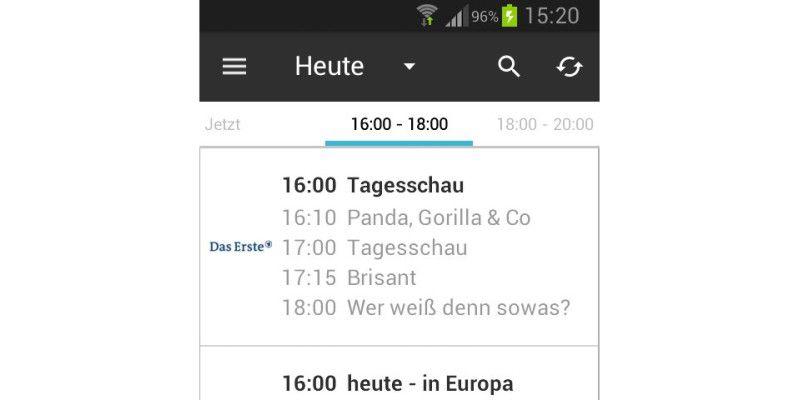 Die Besten Tv Programm Apps Für Android Pc Welt