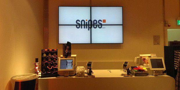 Digital Signage im Handel – hier bei Snipes