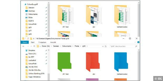 So ändern Sie die Ordnerfarbe in Windows - PC-WELT