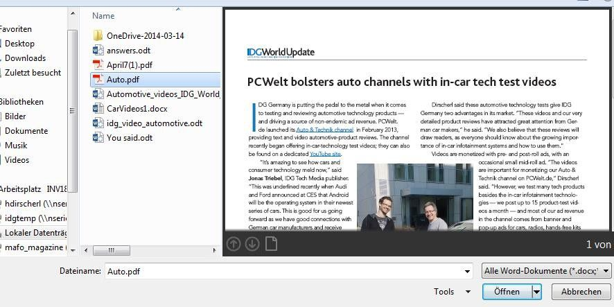 PDFs mit Microsoft Word bearbeiten: So geht\'s! - PC-WELT