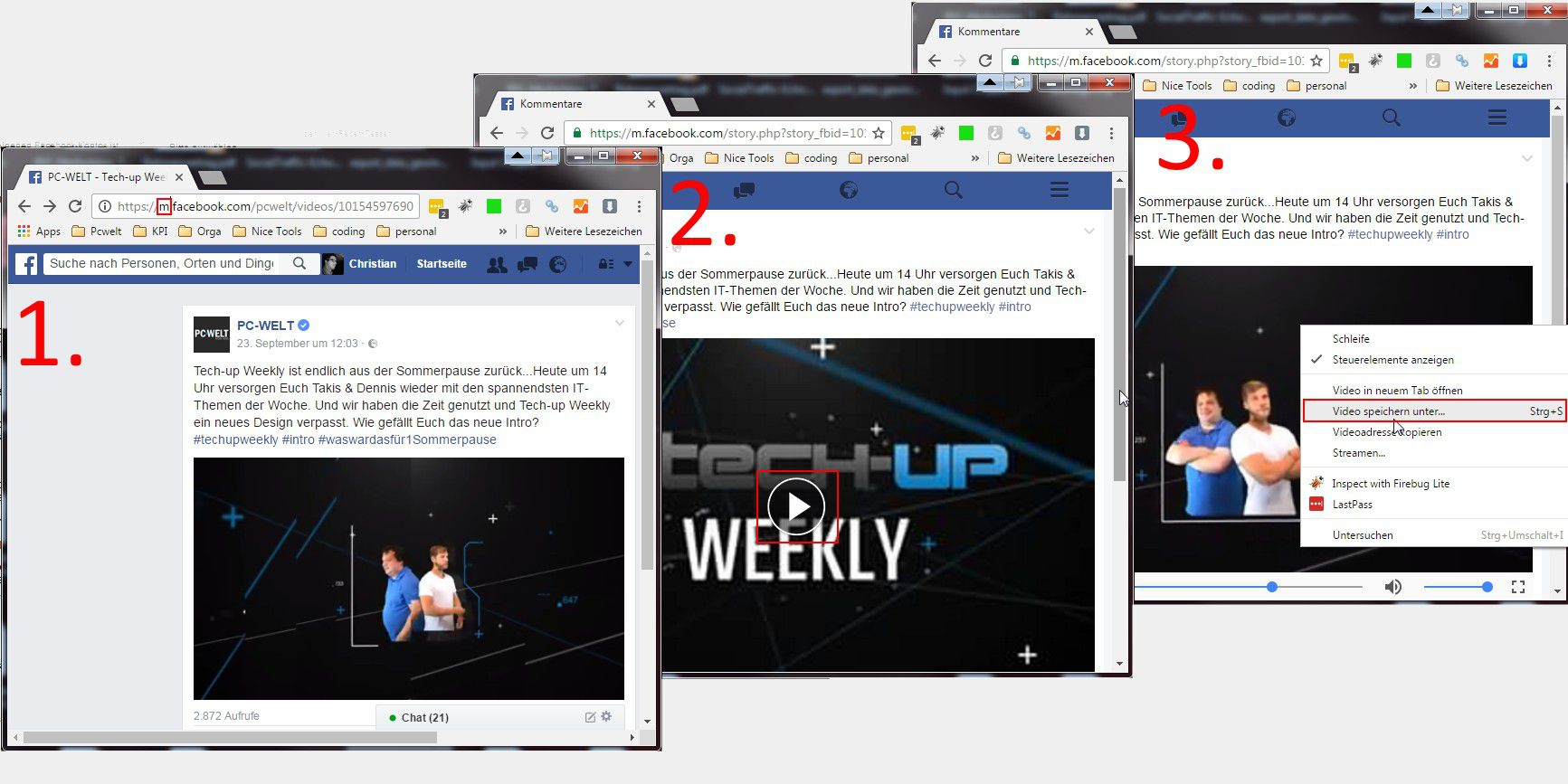 how to download private facebook video on mac