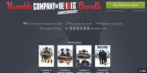 Das neue Humble Company of Heroes Bundle