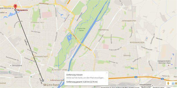 google karten luftlinie strecken und fl chen messen pc. Black Bedroom Furniture Sets. Home Design Ideas