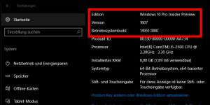 Windows 10 IP Build 14951 geht an die Windows Insider