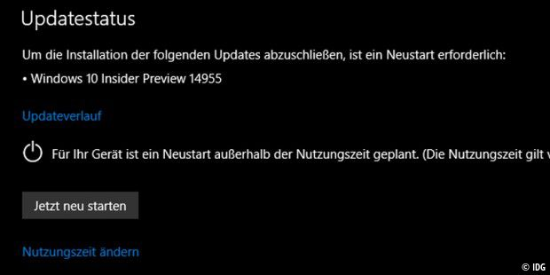 Windows 10 IP Build 14955 geht an die Tester